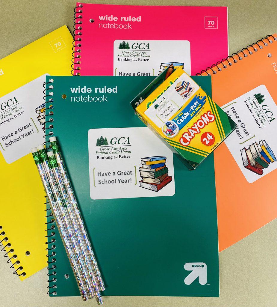 Notebooks, Crayons, Pencils